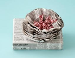 newspaper wrapping